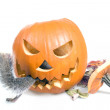 Insatiable pumpkin - Stock Photo