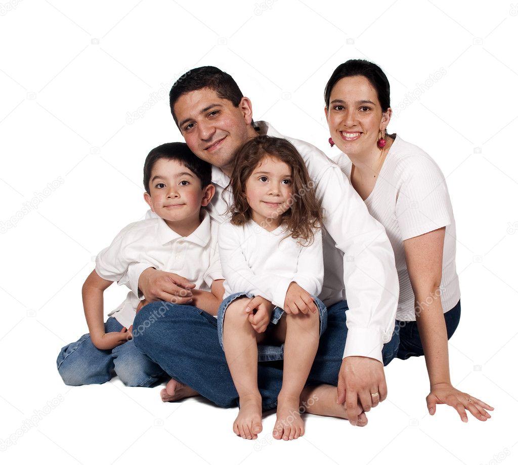 Счастливая семья стоковое