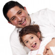 Father playing with daughter — Stock Photo #1144080