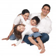 A friendly family with two children — Stock Photo #1144113