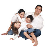 A friendly family with two children — Stock Photo