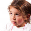 Frightened girl — Stock Photo