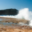 Ocean waves breaking on the shore - Stock Photo