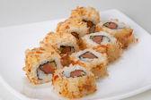 Rolls with salmon — Stock Photo