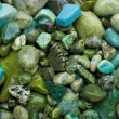 Green pebble background - Stock Photo