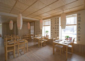 Interior of japanese restaurant — Stock Photo