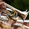 Trumpet player — Stock Photo