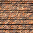 Stock Photo: Red roof tiles
