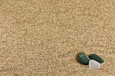 Sand and sea stones — Stock Photo