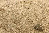 Sand and sea stone — Stock Photo