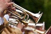Trumpet player — Stock Photo