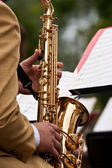 Saxophone Concert — Stock Photo