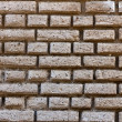 Stock Photo: White brick wall pattern