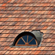 Stock Photo: Red roof and windows