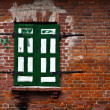 Single window in a brick wall — Stock Photo