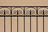 Beautiful old iron fence — Stock Photo