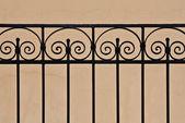 Beautiful old iron fence — Stock Photo