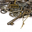 Antique skeleton keys — Stock Photo