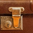 Classic old brown suitcase — Stock Photo
