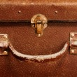 Classic old brown suitcase - Foto Stock