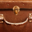 Classic old brown suitcase - Stock Photo