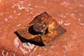 Rusted Iron Nail — Stock Photo