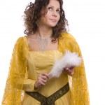 mulher de trajes de princesa — Foto Stock
