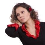 halloween kostiumy hiszpański kobieta — Zdjęcie stockowe