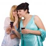 Two gossiping girls — Stock Photo