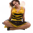 Bee costumes woman. — Stock Photo #1159093