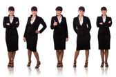 Brunette businesswoman dressed in black — Stock Photo