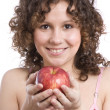 Woman with apple — Stock Photo #1167109