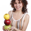 Woman with apples. — Foto de Stock