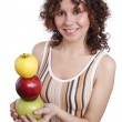 Woman with apples. — Stock Photo