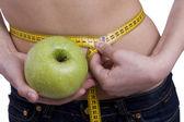 腰は 65.5 センチです。女性のウィットに適合します。 — ストック写真