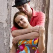Stockfoto: Romantic couple is embracing.