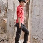 Elegant fashion man model — Stock Photo