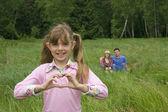 Jag älskar min familj. lycklig familj. — Stockfoto