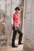 Elegante mode mann modell — Stockfoto