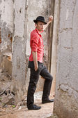Elegantní módní člověk model — Stock fotografie