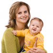 Happy family - mother and little daught — Stock Photo