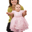 Happy family mother and little daughter — Stock Photo