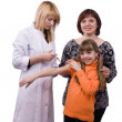 Royalty-Free Stock Photo: Doctor giving little girl an injection