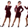 Businesswoman dressed in red suit. — Foto Stock