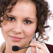 Call center operator — Stockfoto