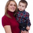 Happy family - mother and son — Stock Photo