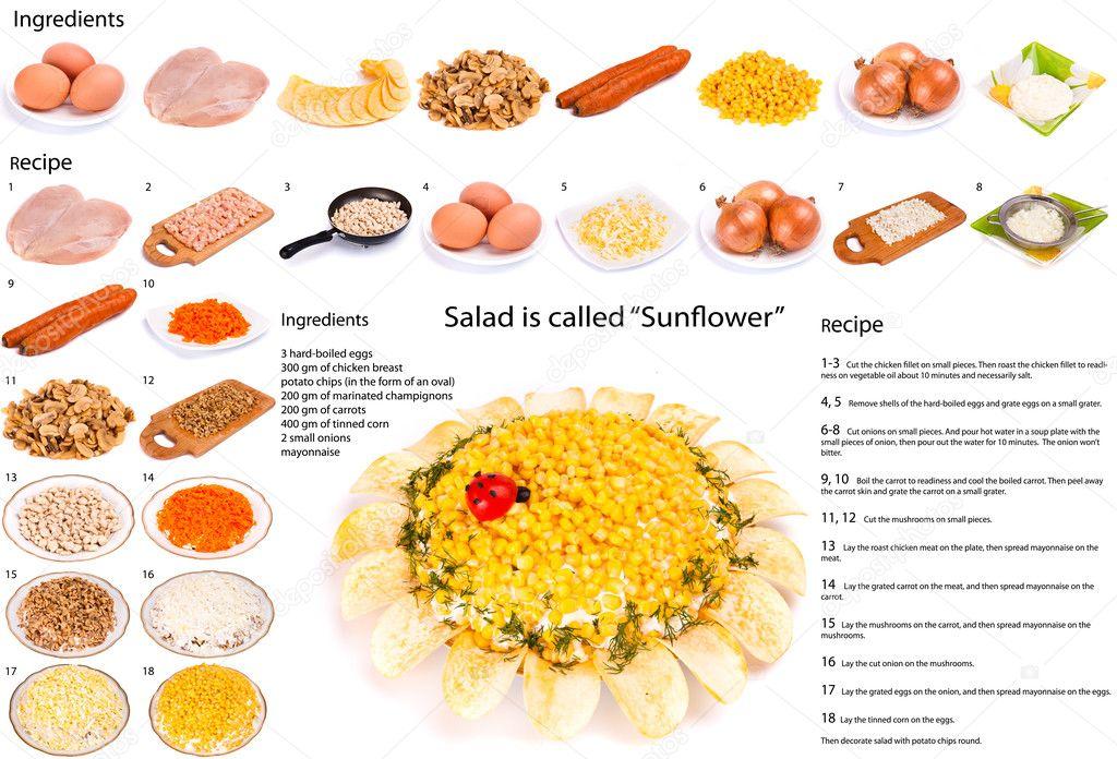 Рецепты салатов поэтапно