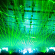 Laser show at the concert — Stock Photo