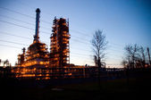 Industrial oil works — Stock Photo
