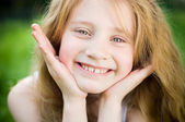 Smiling little girl — Stock Photo